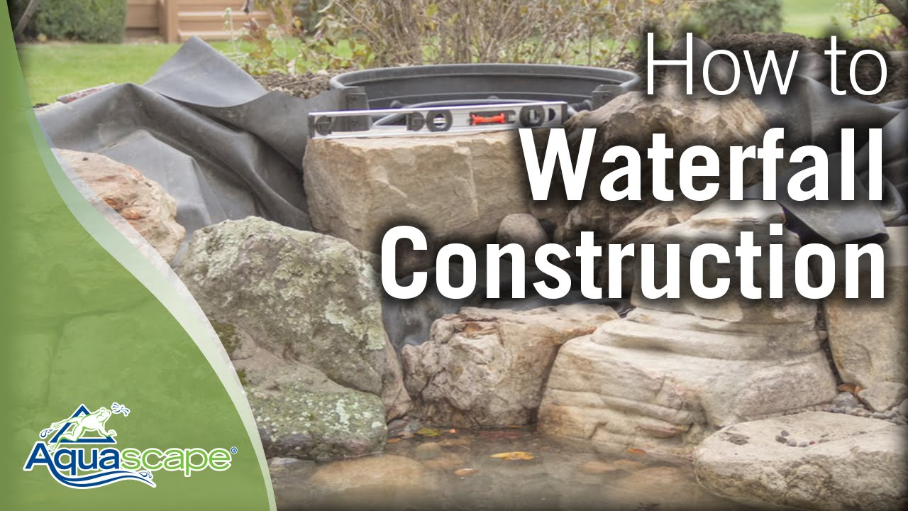 Aquascape S Step By Step Waterfall Construction Youtube