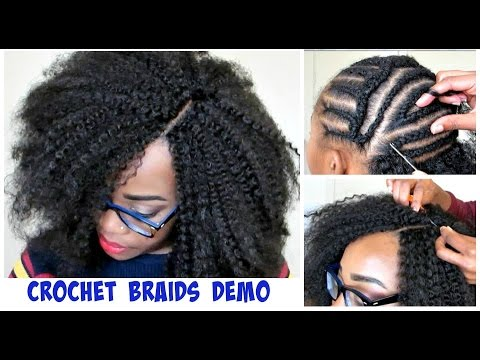 WATCH ME DO CROCHET BRAIDS! Invisible Part Method w/ Marley Hair