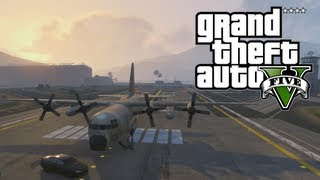 "GTA 5: How To Get The ""TITAN"" AC-130 Like Military Plane"