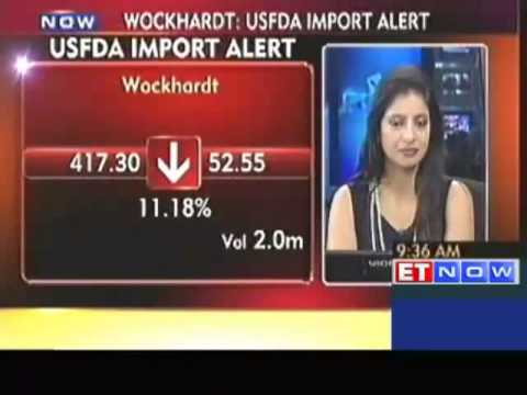 Wockhardt plunges 14% on USFDA import alert