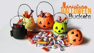 Halloween Bucket Charms Miniature Candy With Polymer Clay