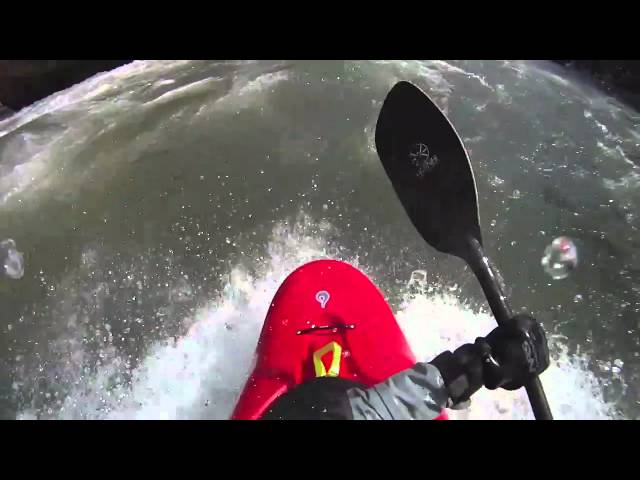 Liquidlogic Freeride surfing on the Gauley River