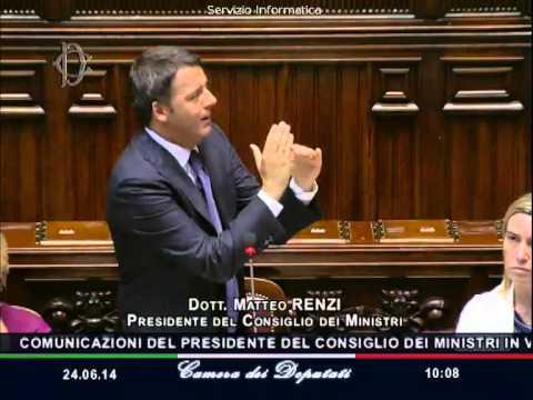Matteo Renzi Discorso Semestre Europeo