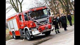 Ciężki samochód ratowniczo-gaśniczy marki SCANIA już oficjalnie w zasobach Ochotniczej Straży Poża