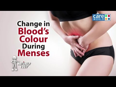 Change of Blood Colour During Menses - Dr. Charmi Thakker Deshmukh - May I Help You?