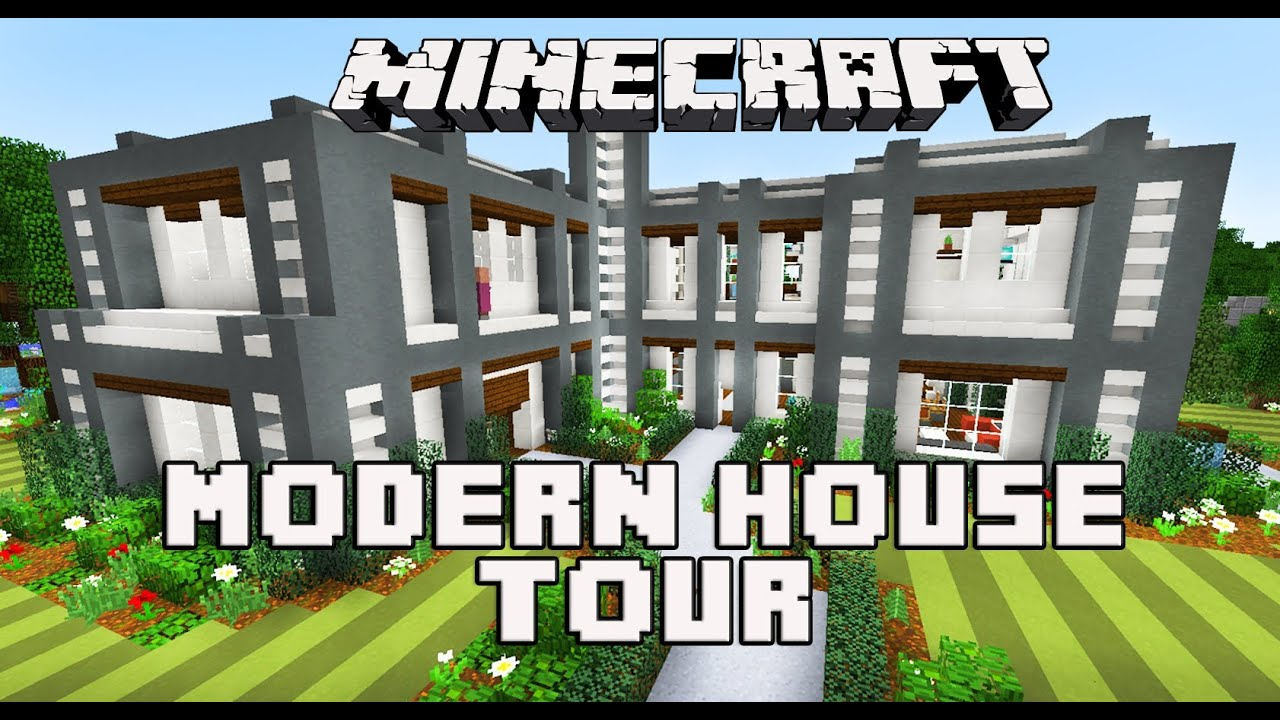 Minecraft Modern House Tour Youtube