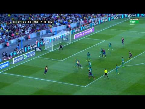 Neymar vs Levante 13-14 (Home) HD By Geo7prou