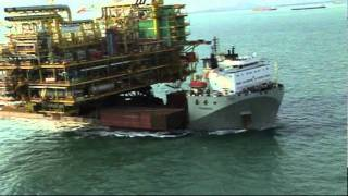 Oil Rig Module Onboard Semi-submersible Tai An Kou By