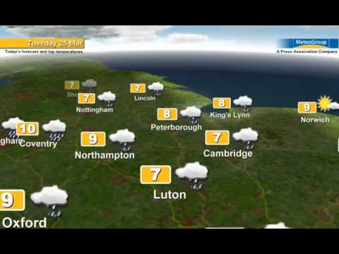 Weather forecast for Tue 25th Mar 2014