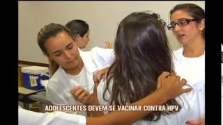 Come�a a campanha de vacina��o contra o HPV