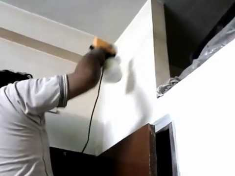 painting interior wall with a spray gun youtube