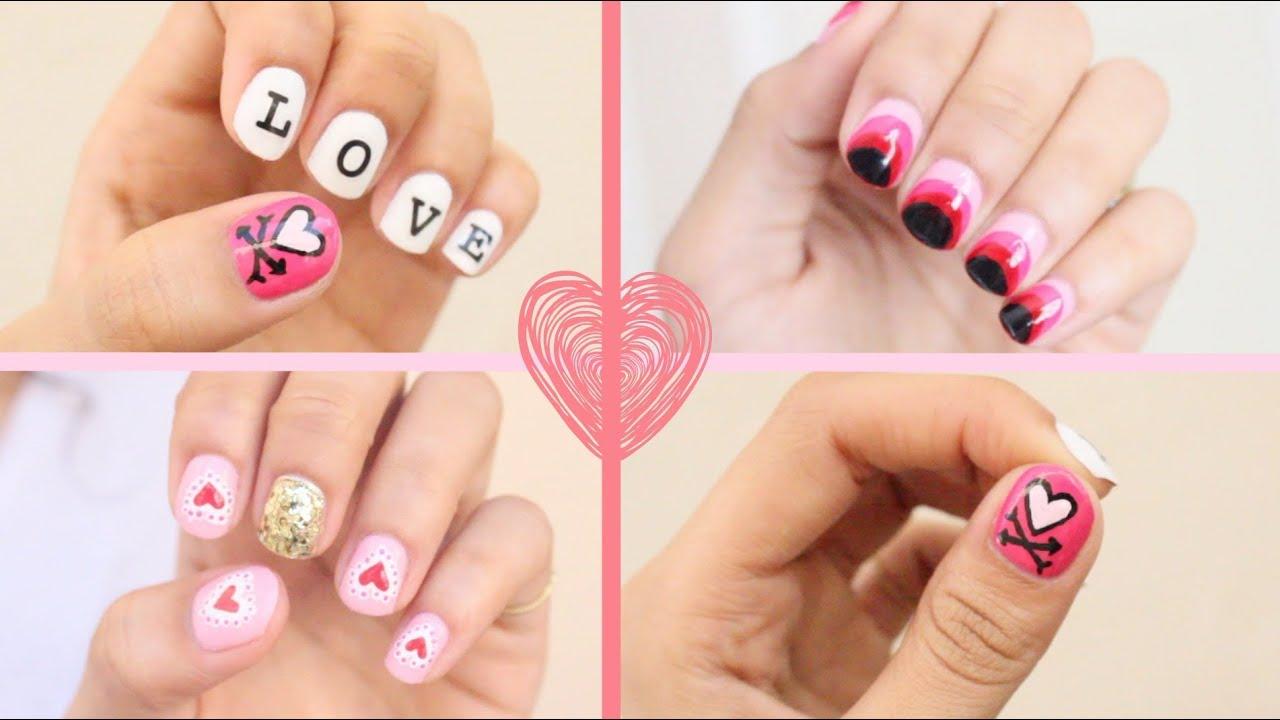 5 Cute Valentines Day Nail Art Ideas!  YouTube
