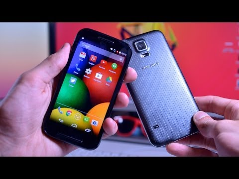 Moto E vs. Samsung Galaxy S5 - Surprising! (Speed Test)