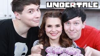 UNDERTALE SPIDER DONUTS ft Dan & Phil! - NERDY NUMMIES