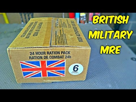 Testing British Military MRE (Meal Ready to Eat)