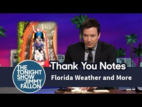 Thank You Notes: Florida Weather, Butter Beer, Dunkin Donuts