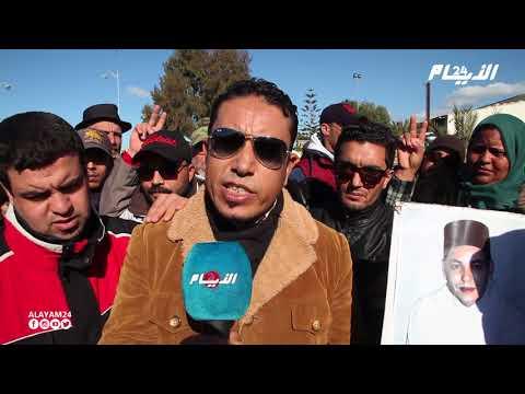 إحتجاج مستخدمي الطوبيسات بجهة الرباط