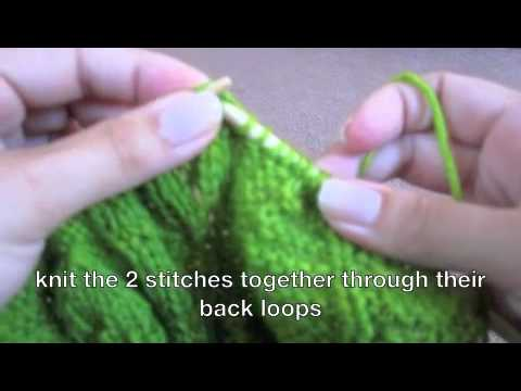 ssk -slip slip knit stitch - YouTube