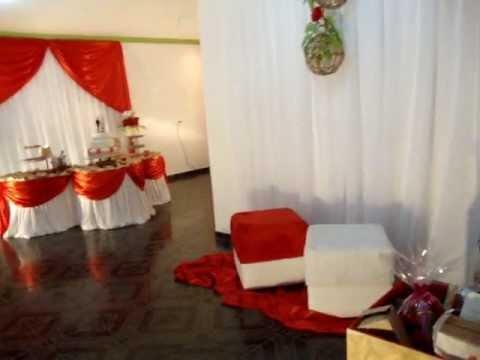 Ornamentação para casamento Simples Vermelho e Dourado.wmv Criat E.V.A- Ouricuri-PE