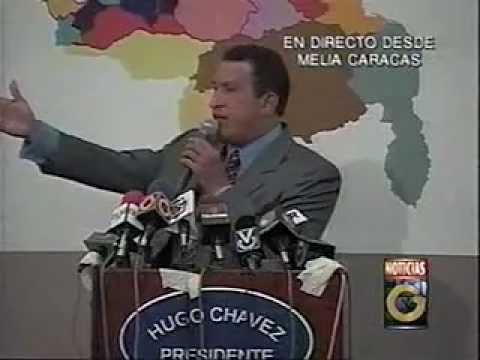 LEGADO DEL CMDTE. Chávez en Rueda de Prensa Hotel Melic antes 06-DIC-1998