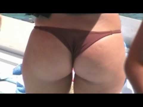 Closeup of hot girl in a Brazilian Thong Bikini
