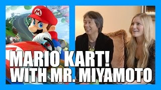 Playing Mario Kart 8 with Mr. Miyamoto