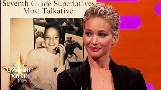 Jennifer Lawrence Won 'Most Talkative' In High School  - The Graham Norton Show