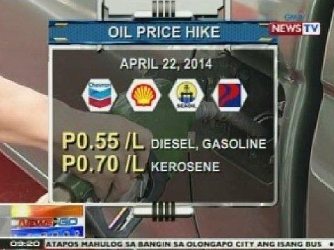 NTG: Ilang oil firms, nagpatupad ng oil price hike ngayong araw