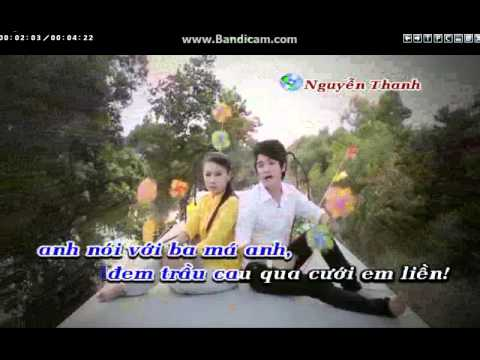 Cay Lua Chung Tinh Karaoke(thieu giong nu~)