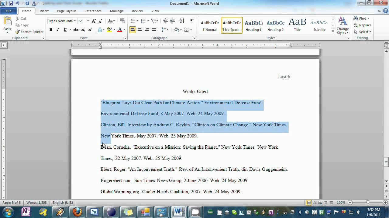 setting your essay to mla format in word