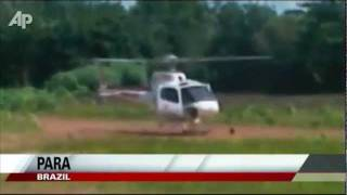 Raw Video: Helicopter Falls Apart during Landing