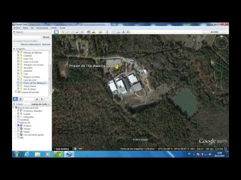 Prision y la Granja de- The walking dead- Google Maps