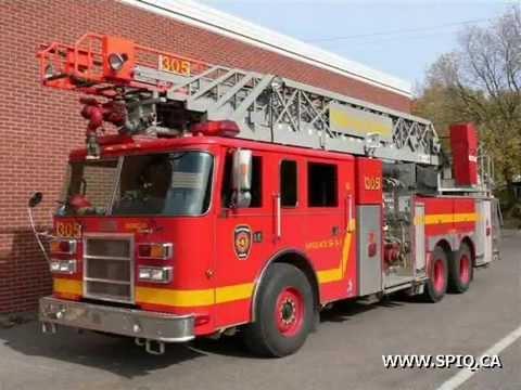 quebec city fire trucks camions de pompier de qu bec youtube. Black Bedroom Furniture Sets. Home Design Ideas