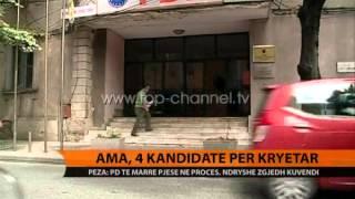 AMA, 4 kandidat pr kryetar  Top Channel Albania  News  L