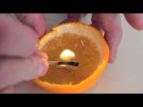 Hướng dẫn cách làm đèn nến thơm từ vỏ quýt