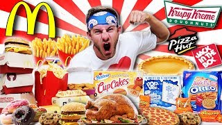 THE ULTIMATE FAST FOOD THANKSGIVING CHEAT DAY! (25,000+ CALORIES)