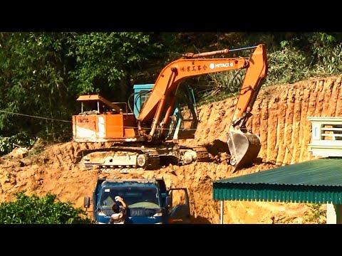 view excavators trucks working xem máy xúc xe tải làm việc by Giai tri cho Be yeu