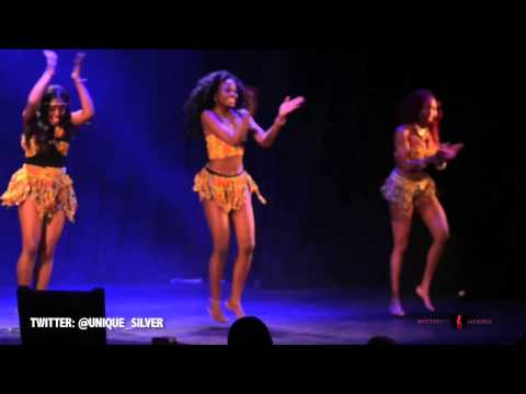 Butterflymodels - Unique Silver Dancers second performance at Miss Caribbean and Commonwealth 2012