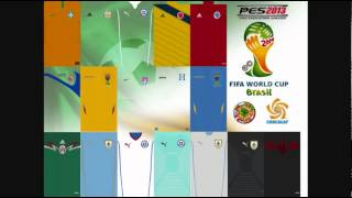 PES 2013 PS3: KIT SELECCIONES BRASIL 2014