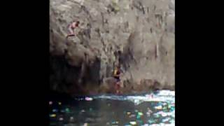 Visitors jumping off the rocks of the Chasm - Courtesy of OceanIslandTravel.com