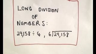 Long Division Of Numbers Arithmetic Basics, Ex 1