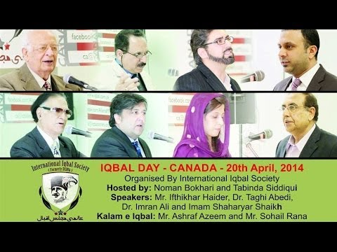 Iqbal Day April 2014 Canada - Hosted by International Iqbal Society