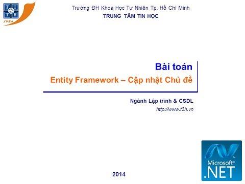 Entity Framework -- Cập nhật Chủ đề 2