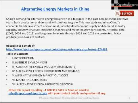 China Alternative Energy Market Latest Report