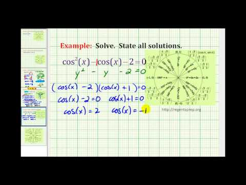 Example: Solve a Trig Equation by Factoring