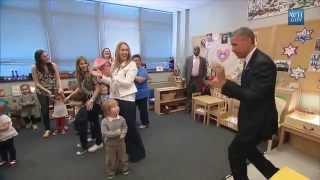 Obama Surprises Pre-School Kids With Visit