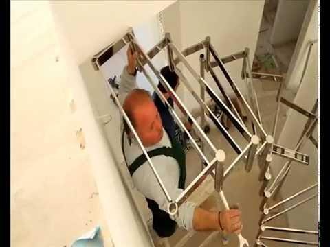 Inox Σκάλα Megan με το κάγκελο της. Τοποθέτηση και κατασκευή σκάλας - 1o Μέρος