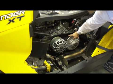 BRP can-am commander 800-1000 clutch removal disassembly