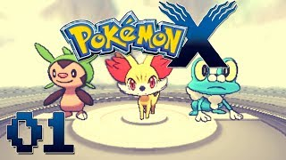 Let's Play Pokemon X Part 1 My Journey Begins! Gameplay