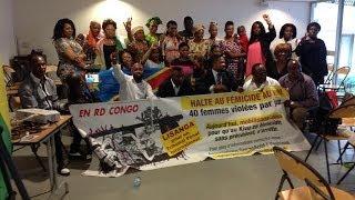 Paris le 04 07 2014: La conférence de la femme à Paris face aux viols dont elle est victime